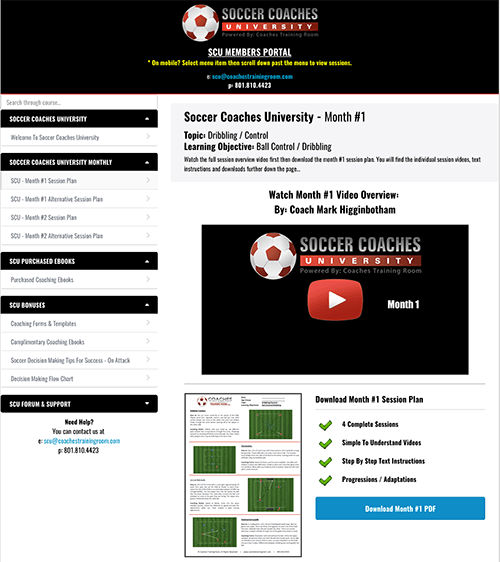 Soccer Coaches University - Powered By: Coaches Training Room